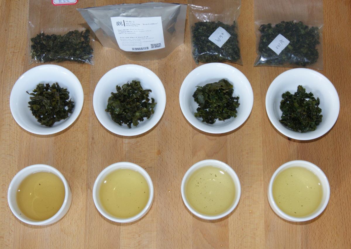 4 Sorten Tie Guan Yin im Vergleich